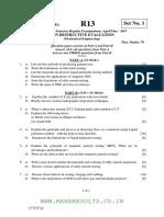 Non destructive evaluation question paper