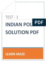 Test 1 Indian Polity Solution Newly Updated