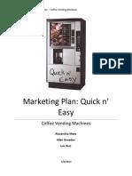 Marketing Plan Coffee Vending Machines