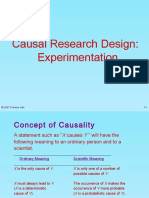 Casual Research Design-experimentation