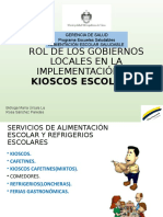 Rol de Los Gobiernos Locales en La Implementación de Quioscos Escolares Saludables