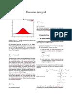 Gaussian Integral