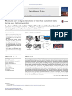 Macro and Micro Collapse Mechanisms of Closed-cell Aluminium Foams During q