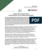 CP Gomet' Santé lance Gomet' Santé en partenariat avec Eurobiomed