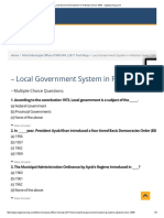Local Government System in Pakistan Since 1958 - Ezgolearning 1 Tmo