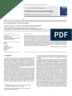 Effect of Tool Rotating Rate on Foaming Properties of Porous Aluminum