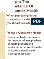 Health 6 Explains the Importance of Consumer Health