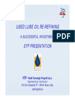 STP Present Used Lube Oil Re-refining 25anniversary