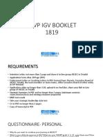 Lcvp Igv Booklet