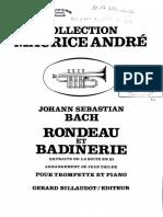 J.S. Bach Rondeau Et Badinerie