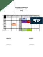 Jadual Penggunaan Bilik Pendidikan Seni Visual