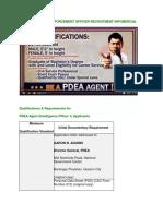 PDEA Application