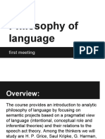 Philosophy of Language - 1