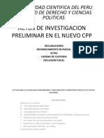 Actos de Investigación Preliminar- NCPP