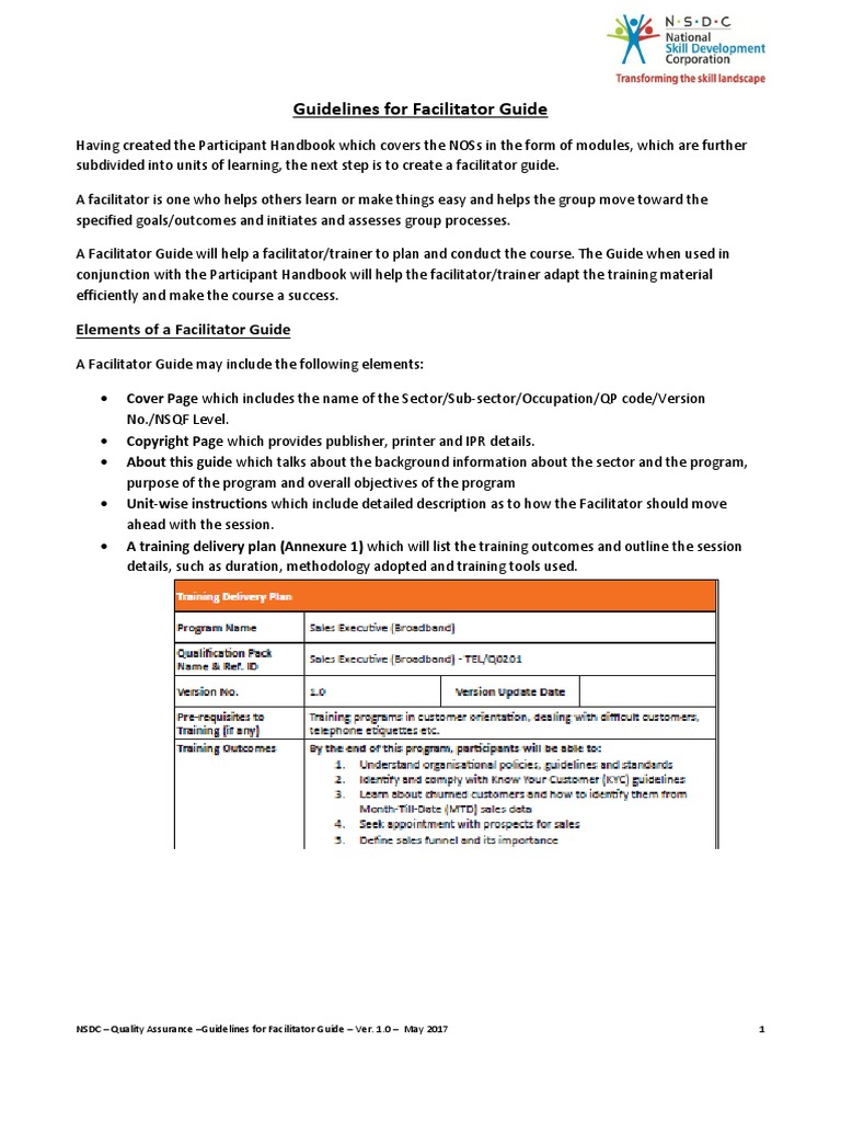 implementation plan and facilitator guide essay Learning how to implement a personalized student learning plan program at their  schools this guide  in the small group approach, the facilitator delivers the  pslp curriculum to a small group of one  same industry and write a short essay.