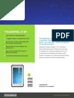 Panasonic Toughpad JT-B1 Specsheet