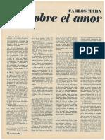 Carlos Marx y El Amor
