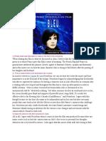 Trois Couleurs Bleu Screening Report 2