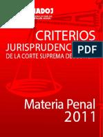 Jurisprudencia de la Cámara Penal 2011