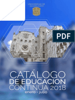 Catalogo Educacion Continua Enero Julio 2018