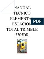 Manual Técnico Elemental Estación Total Trimble 3305dr