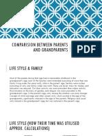 comparision between parents and grandparents