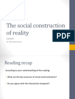 Session 2 - The Social Construction of Reality 2017 - Student