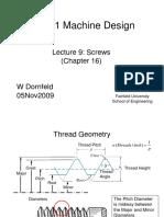 Me 311 Machine Design Notes 09