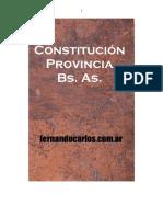 Constitución de La Provincia de Buenos Aires