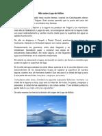 Leyenda Sobre Lago de Atitlán