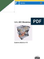 Cuaderno didactico No.61 -  1,8 L 20V mecánica