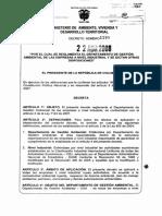 DEC 1299 de 2008 - Reglamenta Dpto Amb de Las Empresas