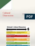 Cultural Dimensions Summary