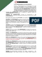 Contrato de Maquinaria Cranc Promociones
