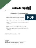 Apostila de Atividades de Espanhol
