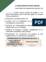 Paquete de Grado II s 2018