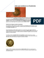 Antiguas Monedas Que Existieron en Guatemala