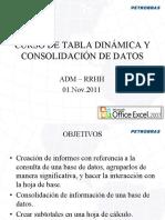 Tabla Dinámica y Consolidación de Datos