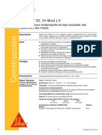 Adhesivo Epoxico Multiproposito Baja Viscosidad Resistente Alto Modulo Sikadur 35 Hi Mod Lv