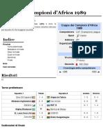 Coppa Dei Campioni d'Africa 1989