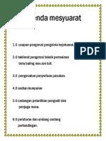 Agenda Mesyuarat
