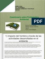 Cuestionario Problemática Ecológica