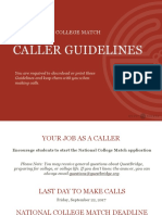 Qb Caller Guidelines