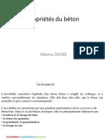 Propriétés Du Béton