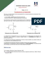 Polarización Del Transistor