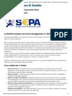 Banca Popolare Di Sondrio - Incassi & Pagamenti - SEPA Single Euro Payments Area - Direct Debit (SDD) - La Normativa Di Riferimento - Versione Stampabile