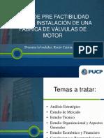 Tesis de Prefactibilidad para la instalacion de una Fabrica de valvulas de motor en Lima