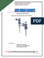 Commencement Projet Hydraulique 2016