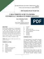 Reporte 6 - Caracterizacion de Una Bomba Centrifuga y Bombas en Serie y Paralelo
