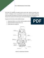Pengetahuan Alat Total Station (Geomatics Engineering)